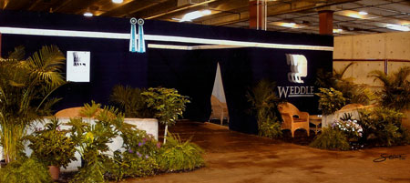Horse show stall curtains